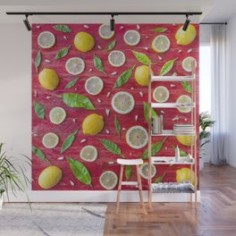 Fruits and leaves pattern (34) Wall Mural