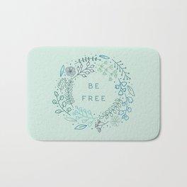 BE FREE - light blue Bath Mat