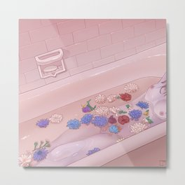 Flower Bath 9 Metal Print
