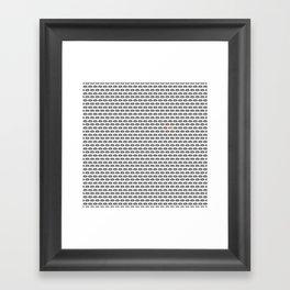 Kissy print Framed Art Print