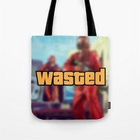 wasted rita Tote Bags featuring Wasted by D-fens