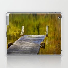 Autumn Reflections and Boat Dock Laptop & iPad Skin
