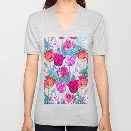 Tulips field Unisex V-Neck