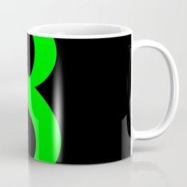 8 (LIME & BLACK NUMBERS) Coffee Mug