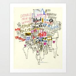 Voices Converge: Women's March on Washington Art Print