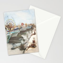 Fishing Boats in Paphos Harbour Stationery Cards