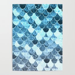 REALLY MERMAID SILVER BLUE Poster