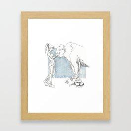 Buffallo Whisperer Framed Art Print