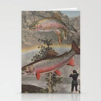 trout Stationery Cards featuring Rainbow Trout by Mitch Meseke