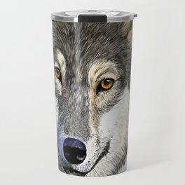 Eyes of the Wolf Travel Mug