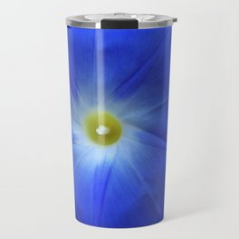 Blue, Heavenly Blue morning glory Travel Mug