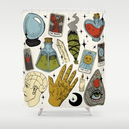 Fortune Teller Starter Pack Color Shower Curtain