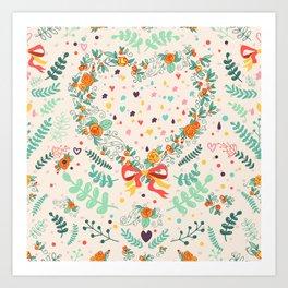 Nature pattern Art Print