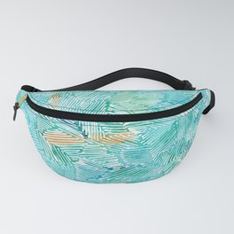 abstract 1, teal pattern Fanny Pack