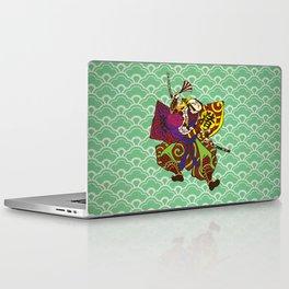 Samurai with vintage japan painting style Laptop & iPad Skin
