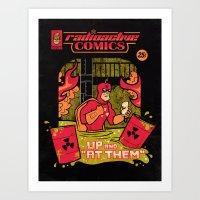 Radioactive Comics Art Print