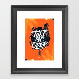 Take Me Over - Flume Framed Art Print