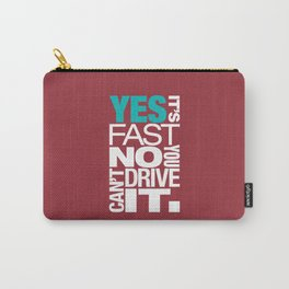 Yes it's fast No you can't drive it v2 HQvector Carry-All Pouch
