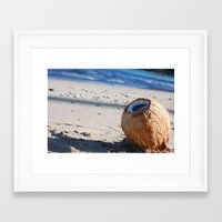 coconut wishes Framed Art Prints featuring Coconut. by TabathaYoast