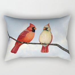 cardinal couple Rectangular Pillow