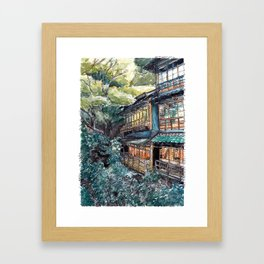 100 years old Inn in Minoh Framed Art Print