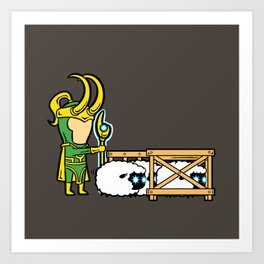 Part Time Job - Sheep Farm Art Print