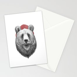 bearded bear Stationery Cards