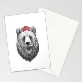bearded bear Stationery Cards
