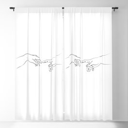 The creation of adam Blackout Curtain