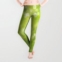green bokeh Leggings
