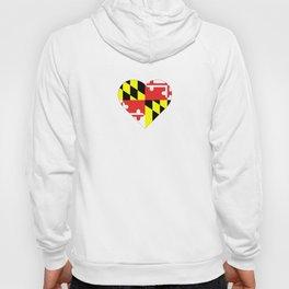Maryland Flag Heart II Hoody