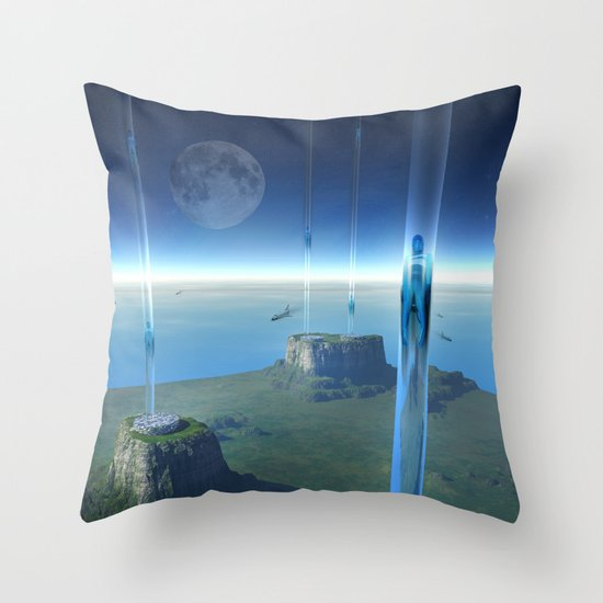 space elevator - babylon transfer station  Throw Pillow