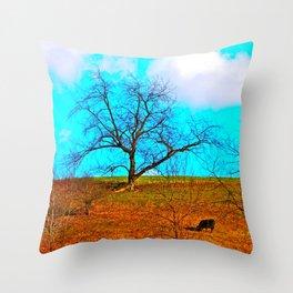 One Black Cow Throw Pillow