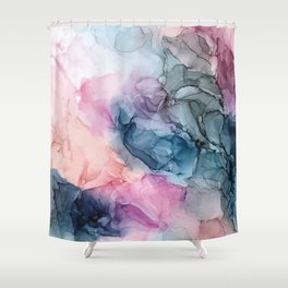 Heavenly Pastels: Original Abstract Ink Painting Shower Curtain