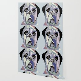 Mastiff in Denim Colors Wallpaper