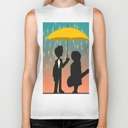 Yellow Umbrella Biker Tank