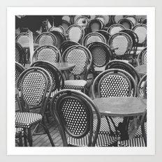 Chairs Under The Rain Art Print