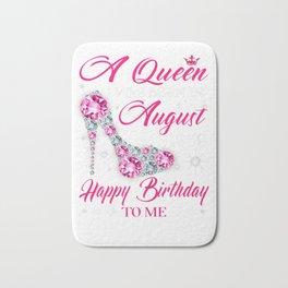 Womens Queens are born in August 1959 T Shirt 60th Birthday Shirt Bath Mat