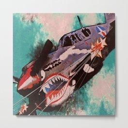 P40 Warhawk attack Metal Print