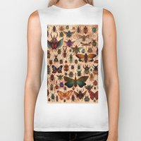 bugs Biker Tanks featuring Love Bugs by Angela Rizza