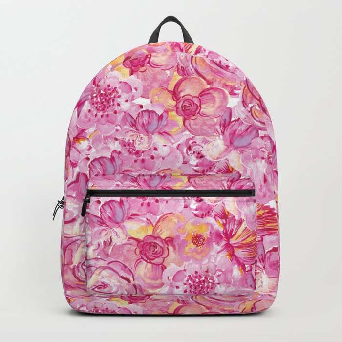 Rose pattern - Floral roses watercolor pattern Backpack