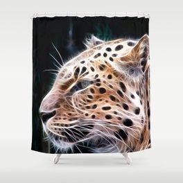 Leopard lines,Leopard painting Shower Curtain