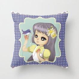 retro kitsch Throw Pillow