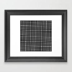 Black Gingham Framed Art Print