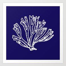 coral branch Art Print