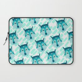 husky - wht pattern Laptop Sleeve