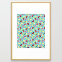 Apple Pie - Blue Framed Art Print
