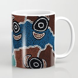 Authentic Aboriginal Art - Riverside Dreaming Coffee Mug