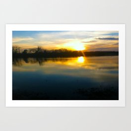 sunset2 Art Print