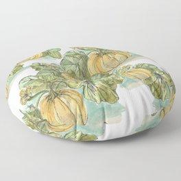 Antiqued Sketched Pumpkin Patch Floor Pillow